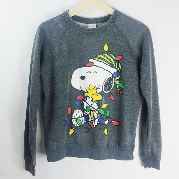 20db1c654bd Peanuts Snoopy Christmas Sweatshirt